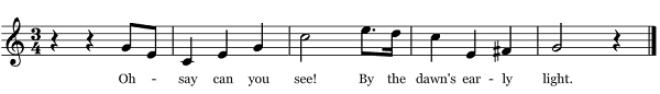 Sheet music of