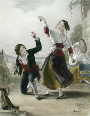 tarantella girls dancing