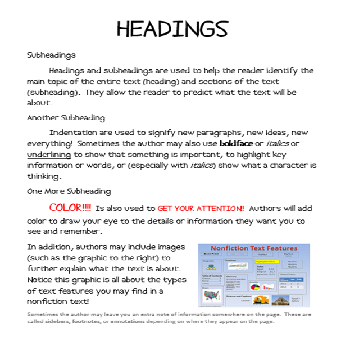 how to put subheadings in an essay