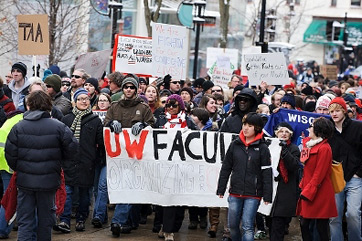 University of Wisconsin protestors