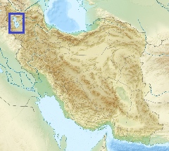Iran with Lake Urmia