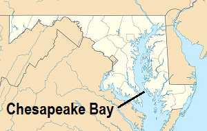 Chesapeake Bay Is In Maryland On The East Coast Of The Us