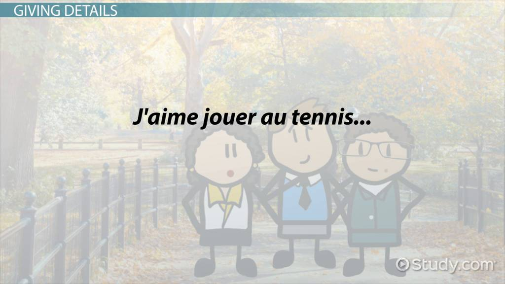describing your town in french video lesson transcript com describing hobbies in french