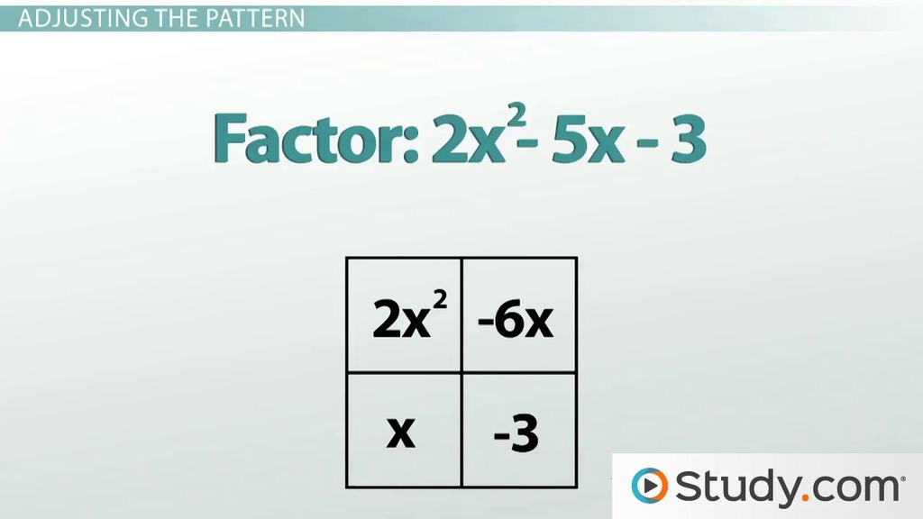 Factoring Quadratic Equations: Polynomial Problems with a Non-1 ...