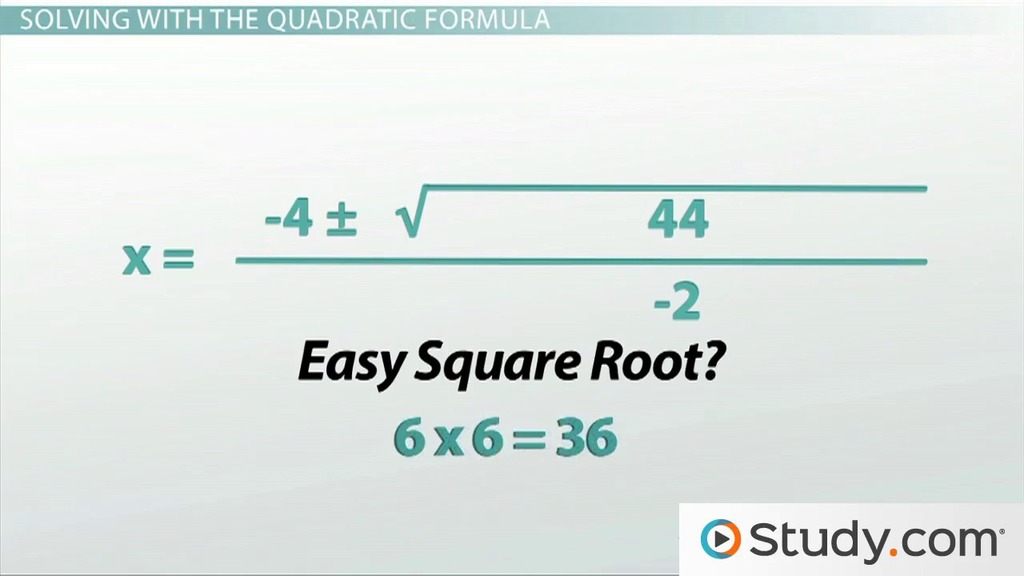 How To Use The Quadratic Formula Solve A Equation. How To Use The Quadratic Formula Solve A Equation Video Lesson Transcript Study. Worksheet. 10 4 Worksheet Solving Quadratic Equations By Using Square Roots At Clickcart.co