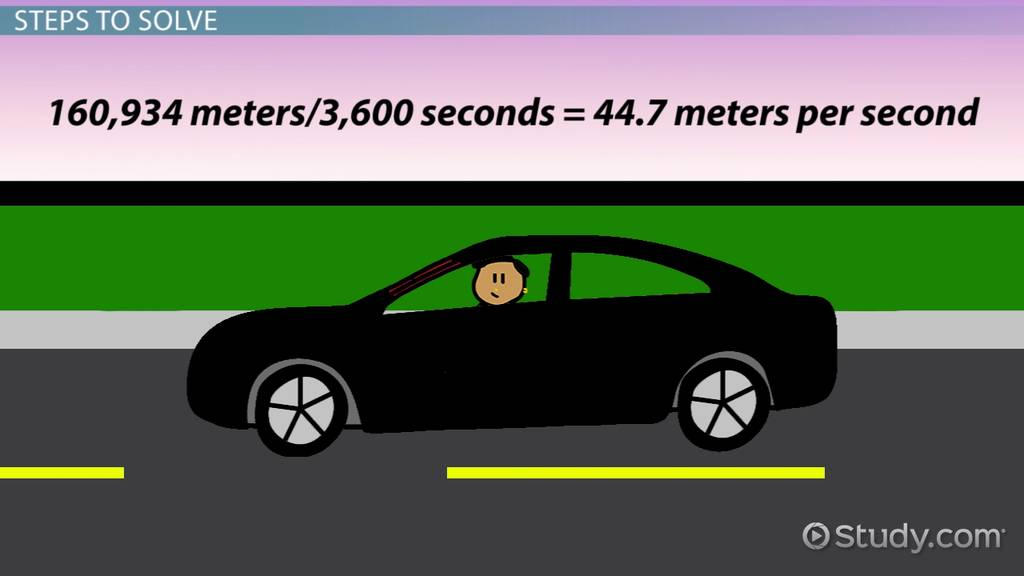 how to convert miles per hour to meters per second