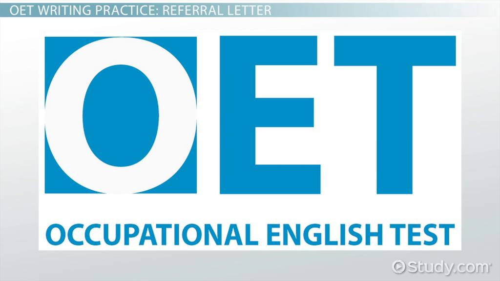 oet writing practice  referral letter