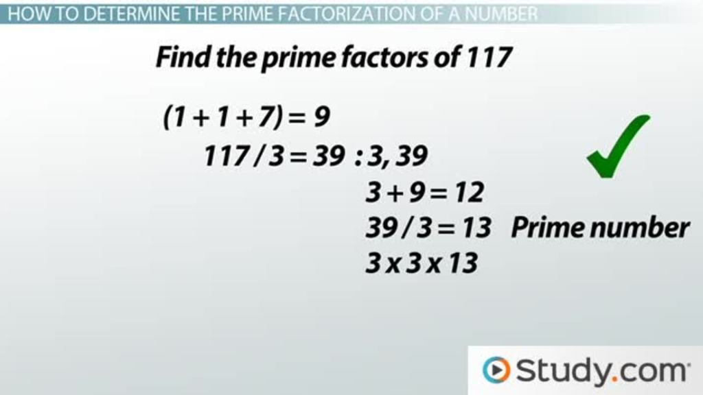 How To Find The Prime Factorization Of A Number Video Lesson. How To Find The Prime Factorization Of A Number Video Lesson Transcript Study. Worksheet. Worksheet Works Prime Numbers At Clickcart.co