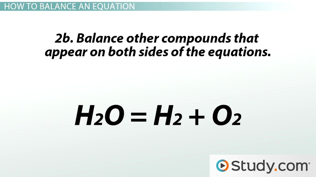 Balanced Chemical Equation Definition Examples Video Lesson