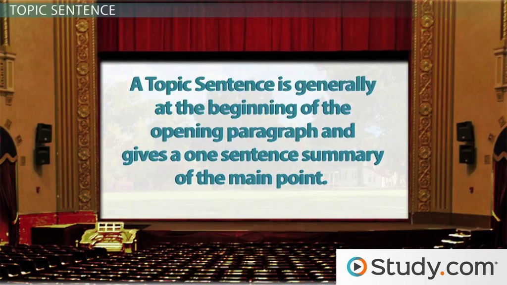 writing main idea thesis statement topic sentences