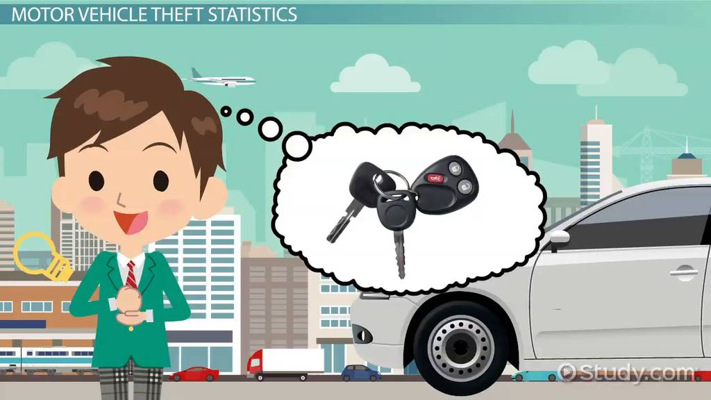 motor vehicle theft definition statistics law video