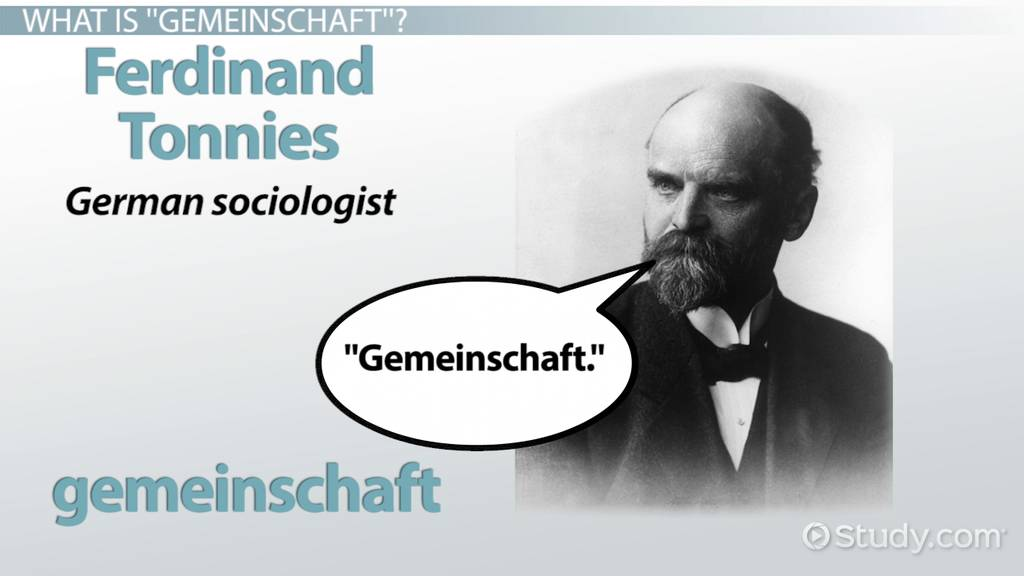 Gemeinschaft Definition Amp Examples Video Amp Lesson