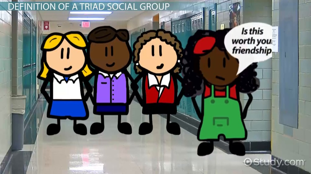 triad social group  definition  u0026 examples