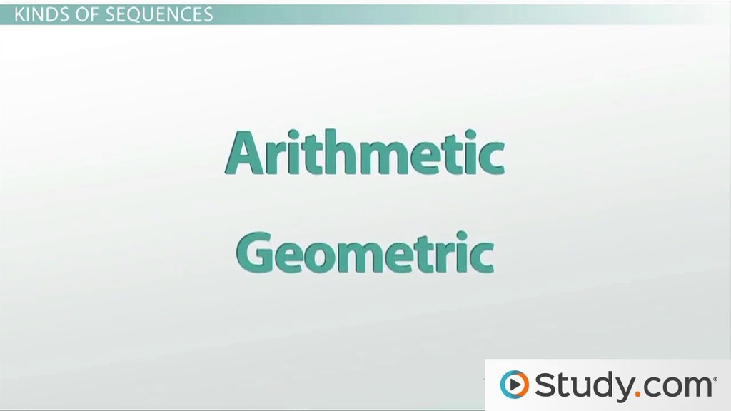 What is a Mathematical Sequence? - Video & Lesson Transcript | Study.com