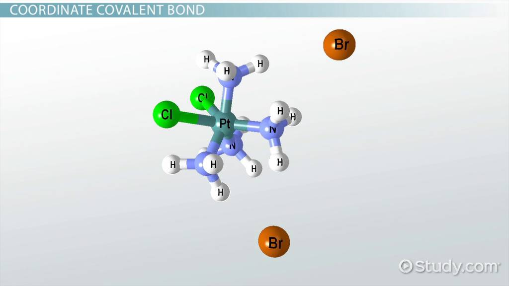 coordinate covalent bond  definition  u0026 examples