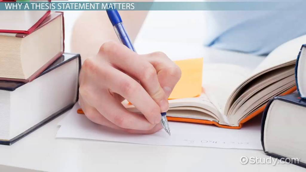 Thesis Statement Examples For Research Papers Video Lesson
