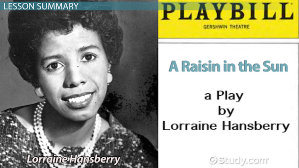 raisin in the sun essay about dreams Free essay: the only thing he sets himself up for, however, is failure mama also has her dream: a new house her late husband worked his entire life to move.