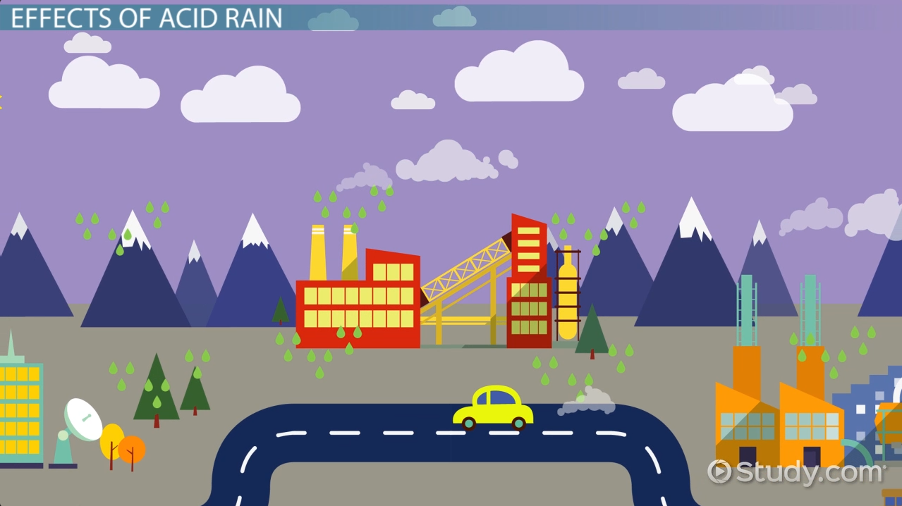 acid rain effects causes video lesson transcript com