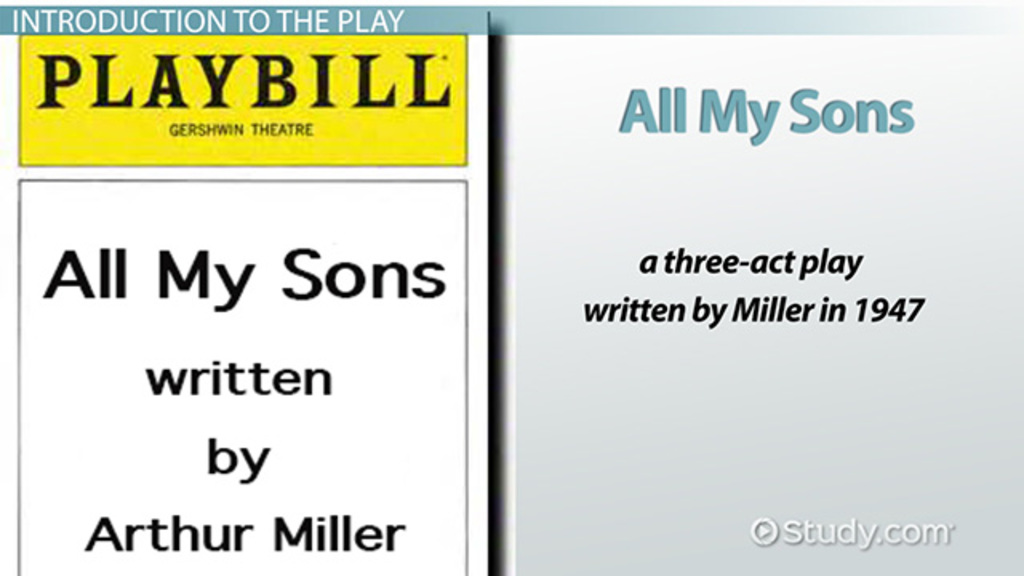all my sons by arthur miller summary characters video  all my sons by arthur miller summary characters video lesson transcript com
