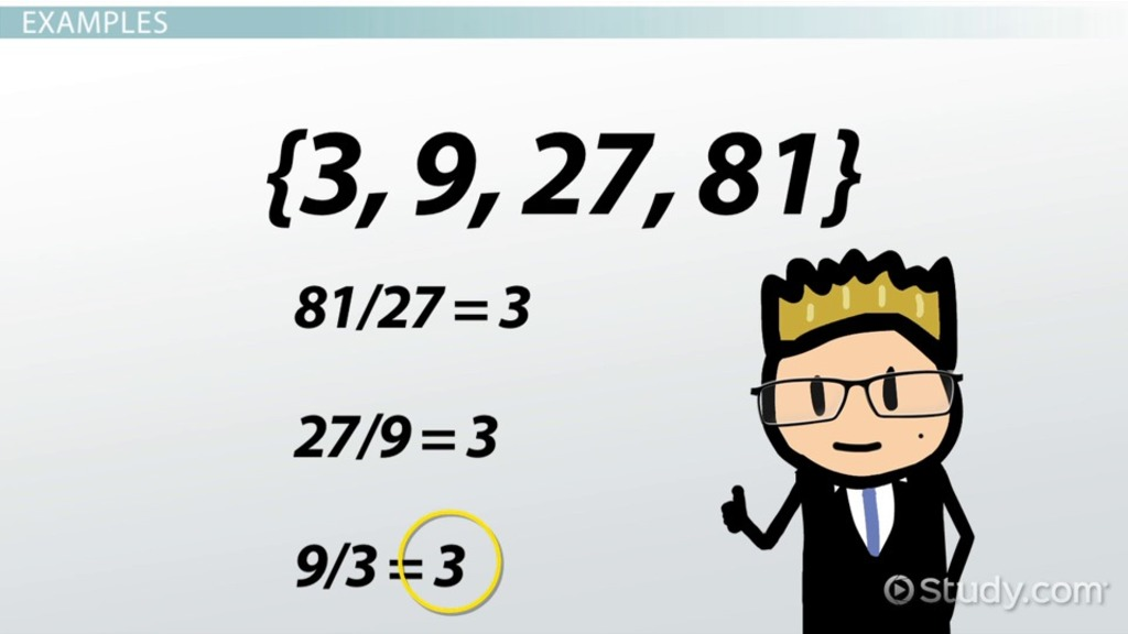 Common Ratio: Definition & Concept - Video & Lesson Transcript
