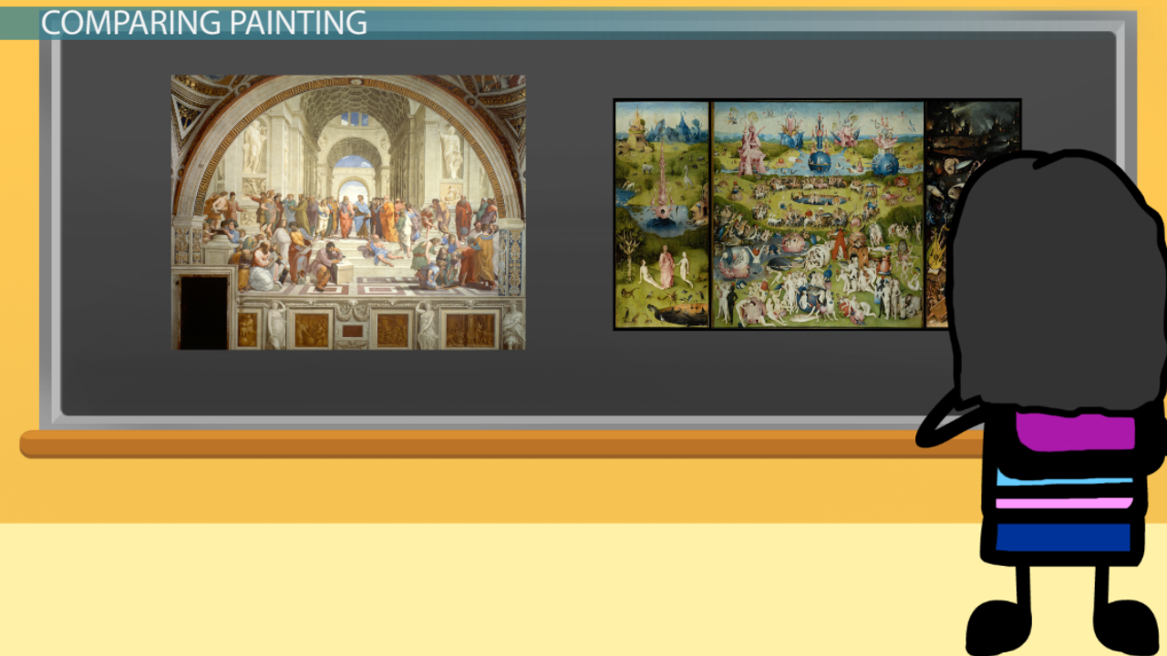 renaissance art artists paintings sculptures architecture comparing northern 16th century and high renaissance painting