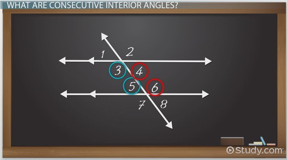 Consecutive Interior Angles Definition Theorem Video Lesson Transcript