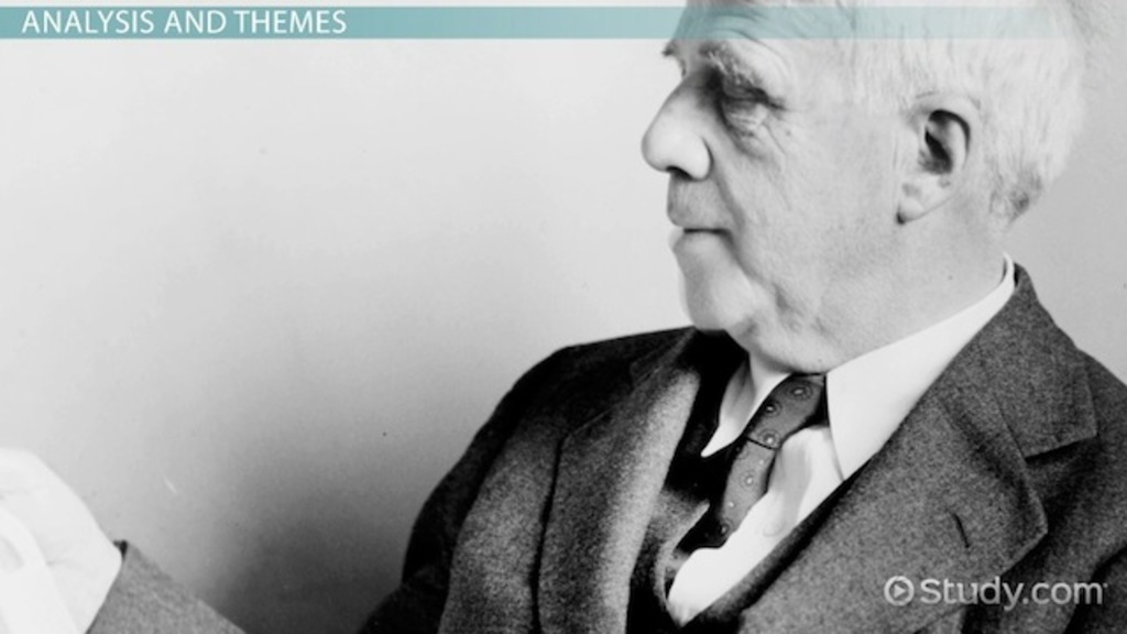 robert frost style analysis essay Robert frost influences instructions answer the following essay question: to what extent did certain events in the life of poet robert frost influence the style of.