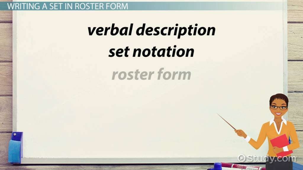 how to write sets in roster form