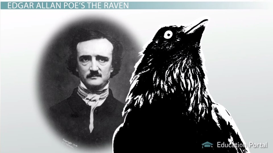 edgar allan poe s the raven summary and analysis video lesson  edgar allan poe s the raven summary and analysis video lesson transcript study com