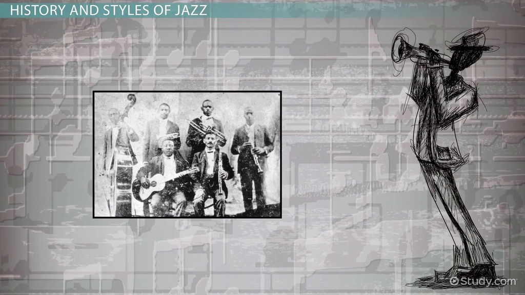 history of jazz vs history of 2013-10-23  history of jazz origins of jazz african rhythms & european melodies  ragtime bebop free jazz latin jazz fusion nuts & bolts of jazz playing the blues.