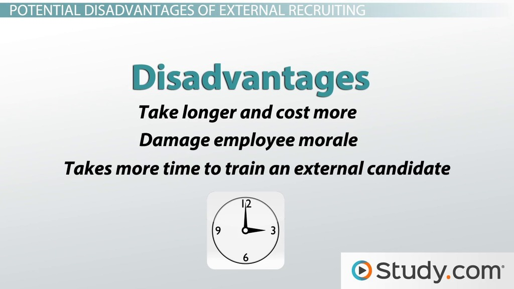 External Recruitment: Advantages, Disadvantages & Methods - Video ...
