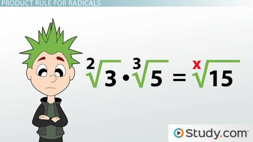 Math homework help radical
