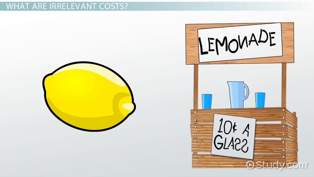 relevant  u0026 irrelevant costs for decision-making