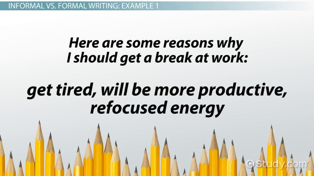 formal writing definition rules amp examples video