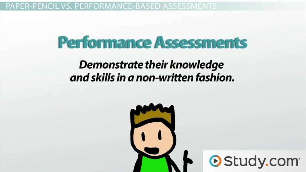 Forms Of Assessment: Informal, Formal, Paper-Pencil & Performance