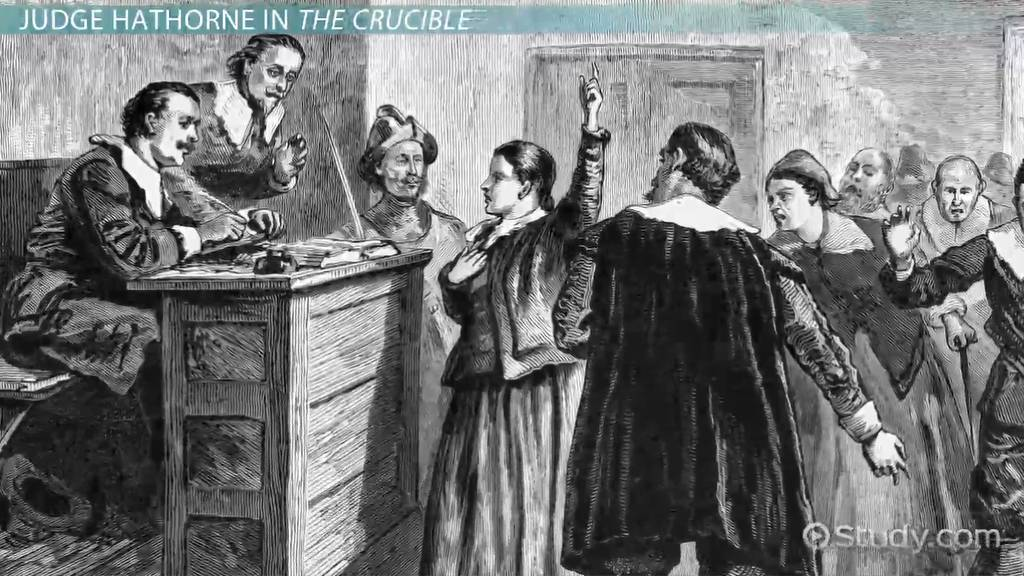 conflict in the crucible video lesson transcript com judge hathorne in the crucible