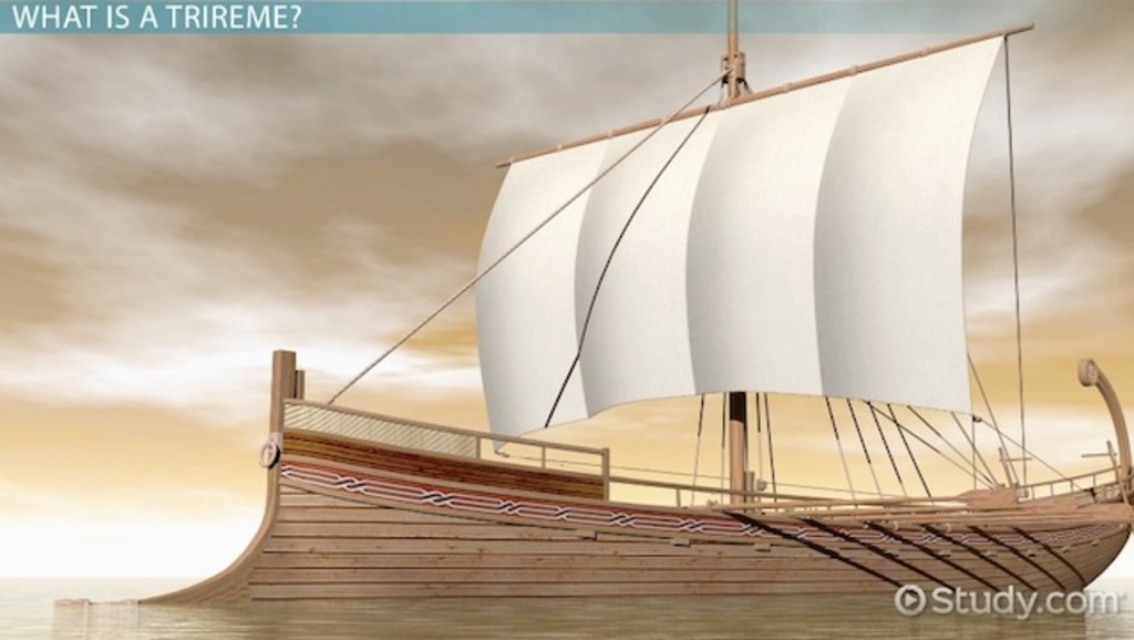 athenian trireme In very early times in the mediterranean the open and oar propelled fighting ship was the galley at the time of the siege of troy the normal large greek rowing vessel [.
