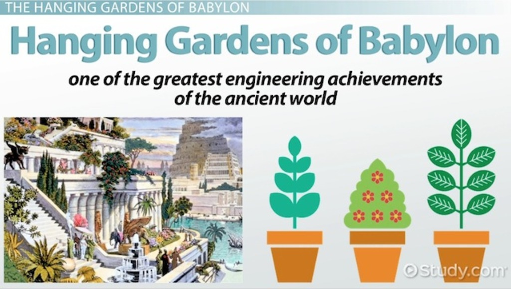 a history of the hanging gardens of babylon Archaeologically, little is known about the early history of babylon scholars do not know where the hanging gardens were in babylon.