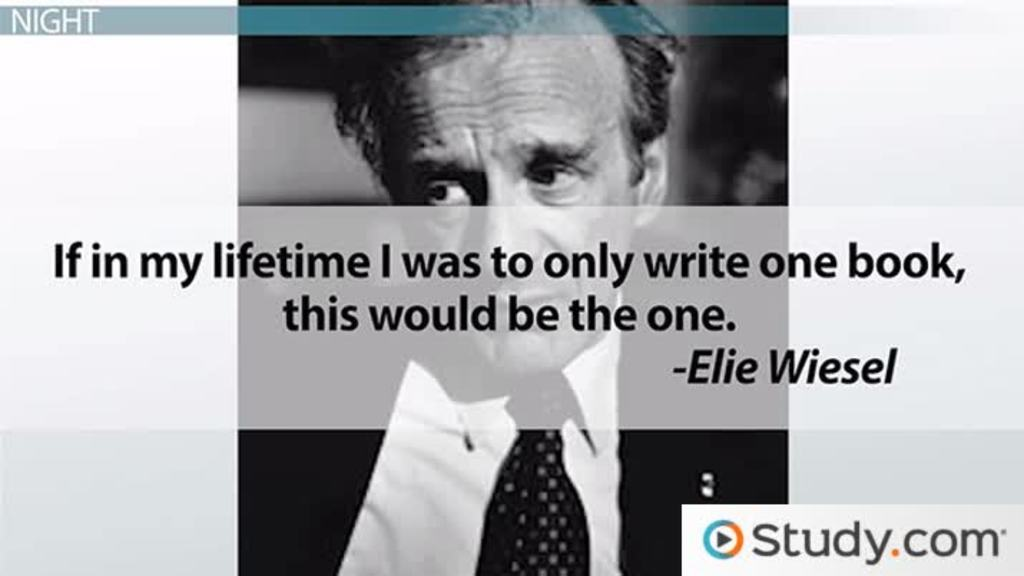 an analysis of night biography of holocaust survivor elie wiesel Biography of elie wiesel  127-page french version called la nuit (night) in 1956 elie wiesel was hit by a taxicab in  wiesel's books on the holocaust have.