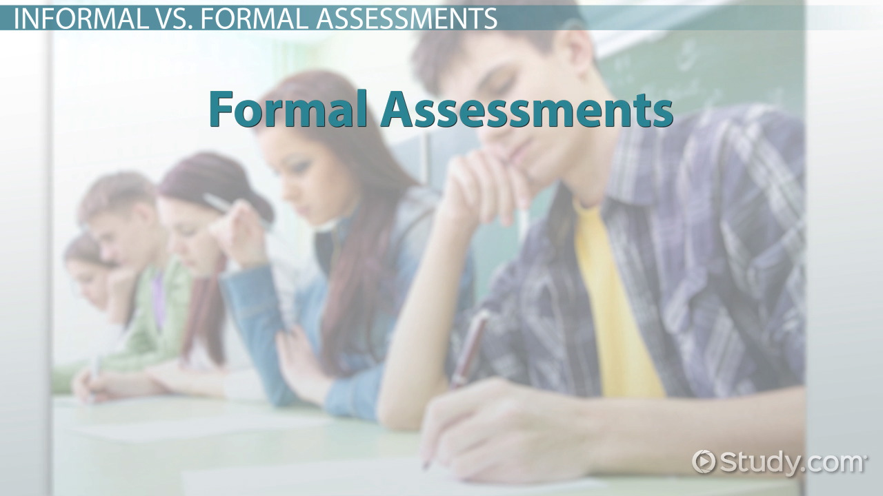 forms of assessment informal formal paper pencil performance informal assessments in the classroom examples types