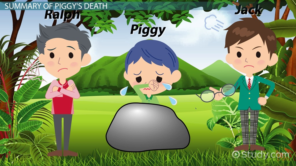 lord of the flies piggy s death video lesson transcript  lord of the flies piggy s death video lesson transcript com