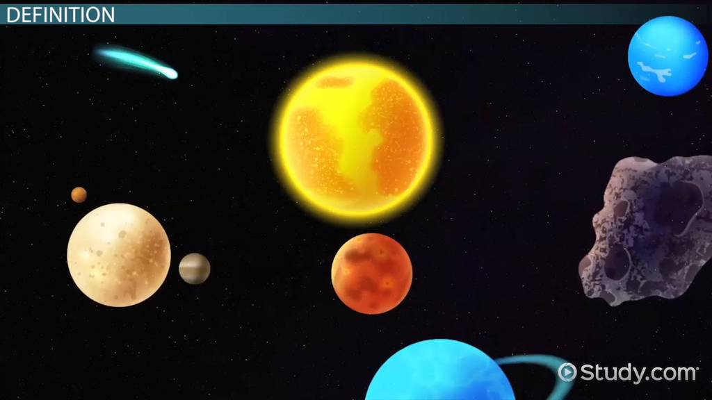 What Is A Solar System Planets Amp Model Video Amp Lesson