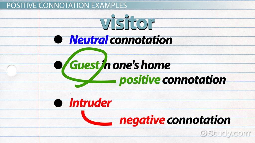 What Is Positive Connotation Definition Examples Video