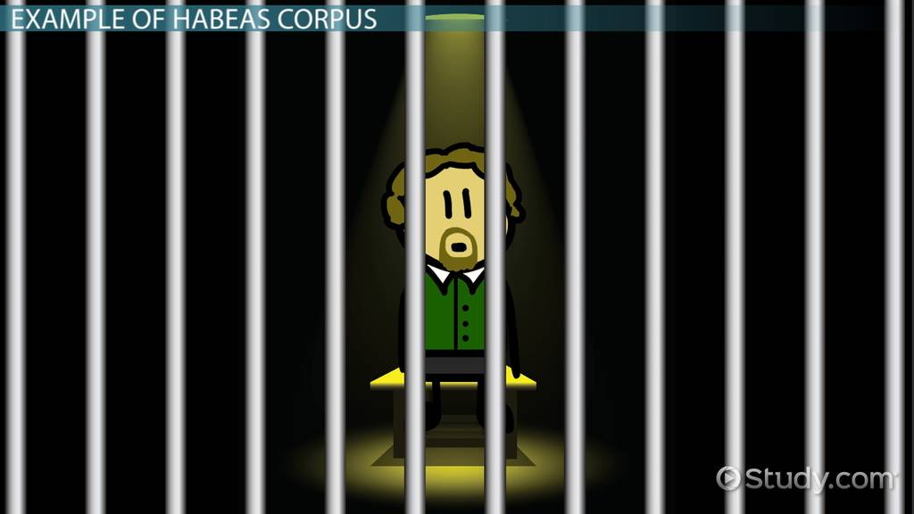 What Is Habeas Corpus? - Definition, History, Amendment & Example - Video &  Lesson Transcript | Study.com