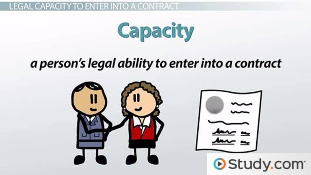 Legal Capacity to Enter a Contract: Definition & Examples - Video & Lesson  Transcript | Study.com