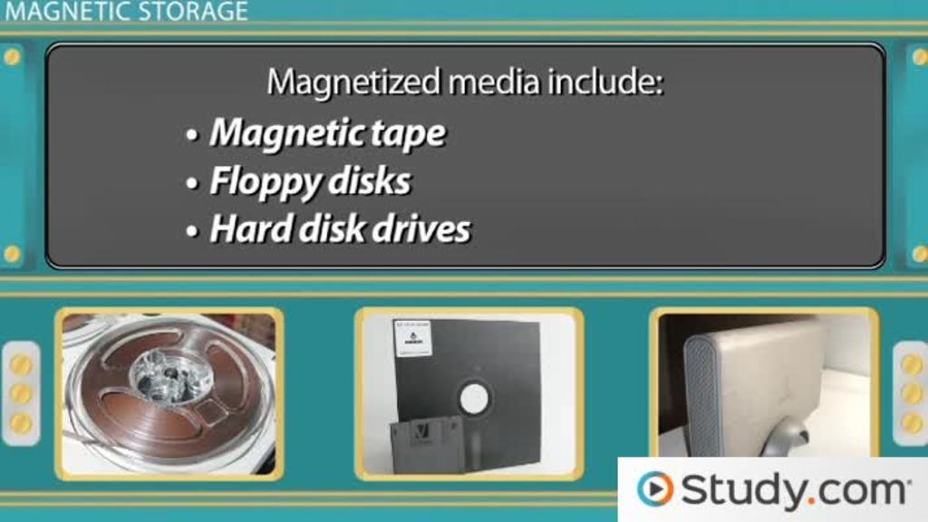 Magnetic Storage Definition Devices Examples Video Lesson Transcript Study