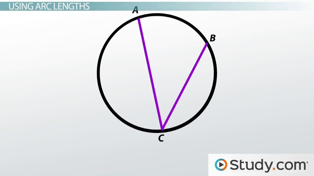 Measure Of An Angle : How to find the measure of an inscribed angle video
