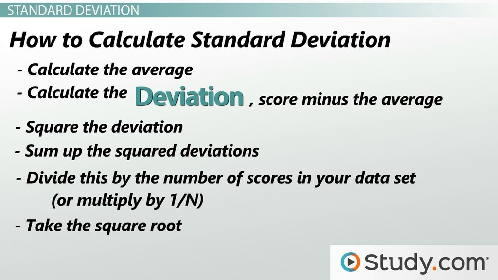Measures of Variability: Range, Variance & Standard Deviation ...