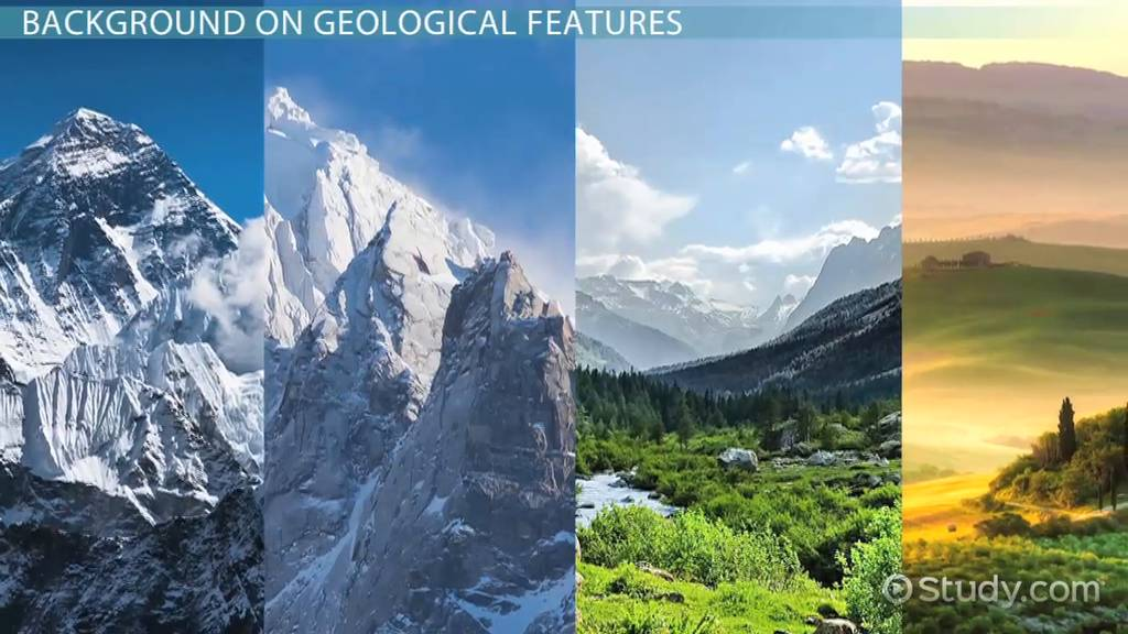 geological features  definition  u0026 list