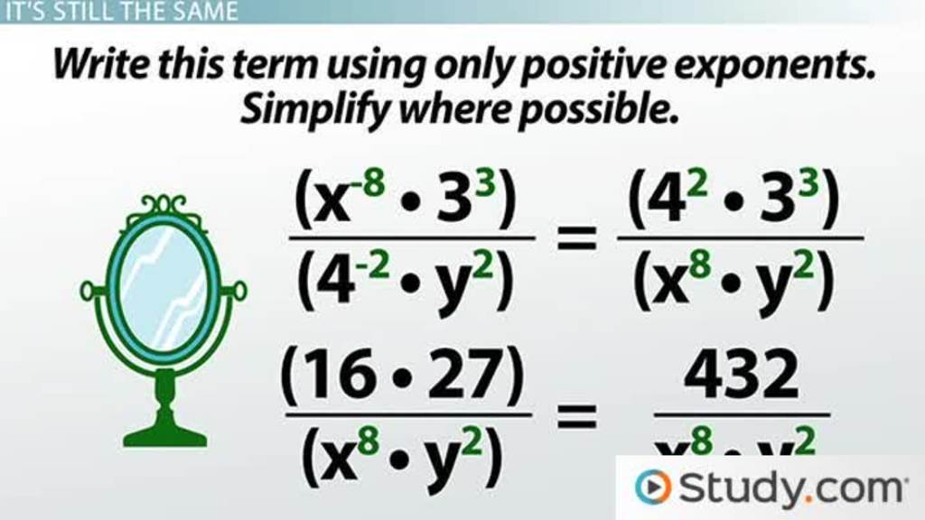 Negative Exponents Writing Powers Of Fractions And Decimals Video. Negative Exponents Writing Powers Of Fractions And Decimals Video Lesson Transcript Study. Worksheet. 8 2 Zero And Negative Exponents Worksheet At Clickcart.co